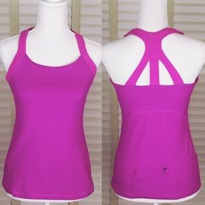 LUCY Pink Active Wear Tank Top-Size M